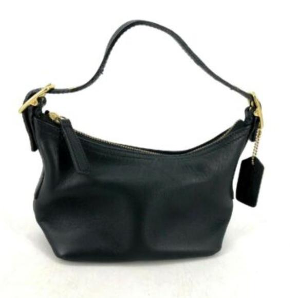 Coach Handbags - Coach Small Purse Black Leather Baguette Hobo EUC
